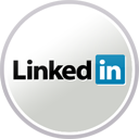 LinkedIn logo in circle
